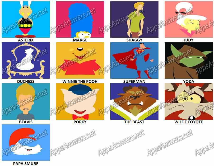 Level 6 Cartoon Characters : Cartoon picture quiz printable fandifavi