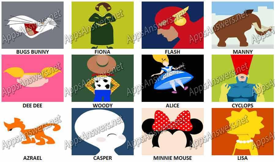 Cartoon Characters Level 6 : Cartoon quiz cheats level adultcartoon