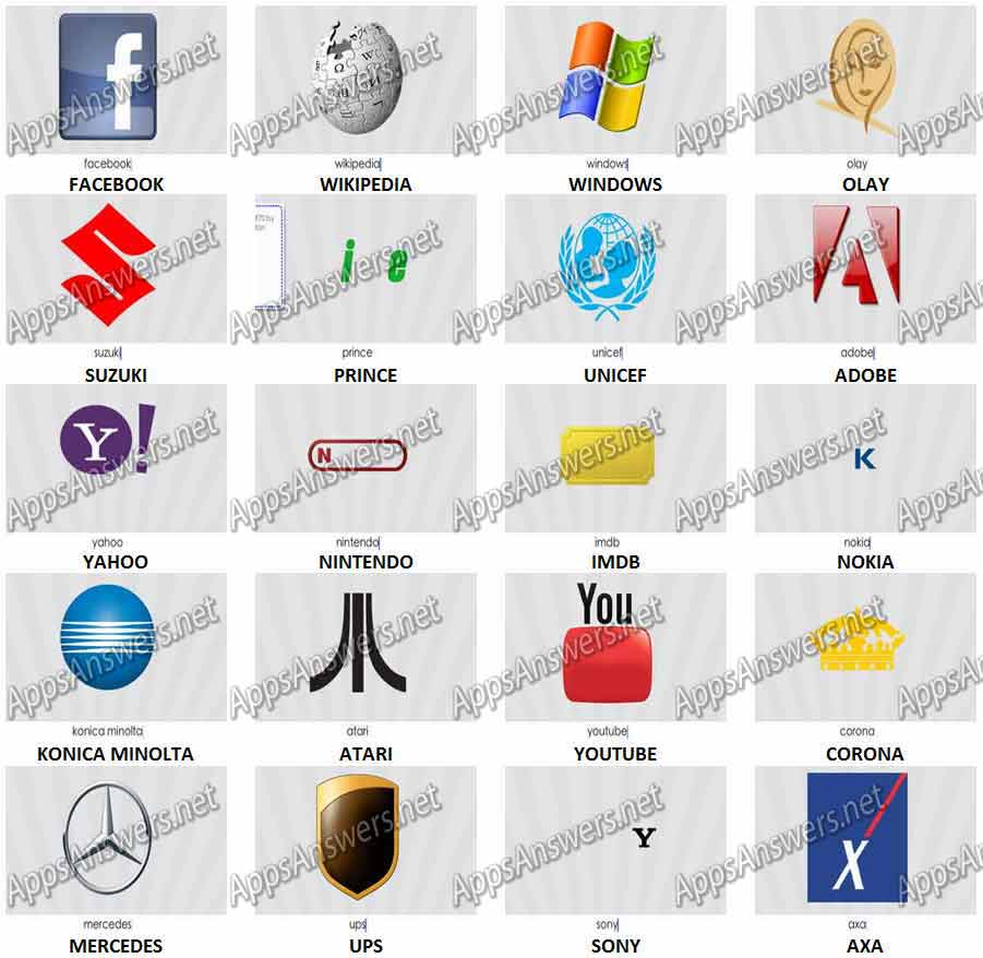 Logo Game Answers Level 2 Facebook | Gameswalls org