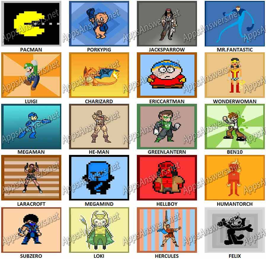 Guess The Pixel Character Quiz Level 41