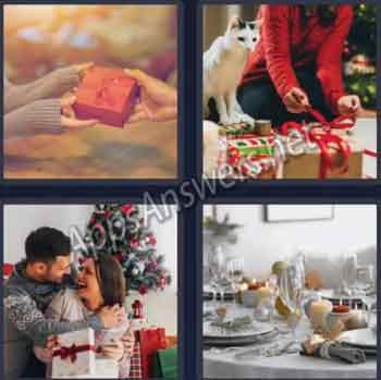 4-pics-1-word-daily-bonus-puzzle-03-Dec-2019-Answer-Christmas-Ribbon